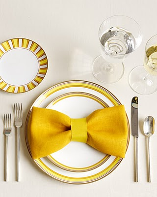 Yellow table setting charming elegant dining room idea decoration