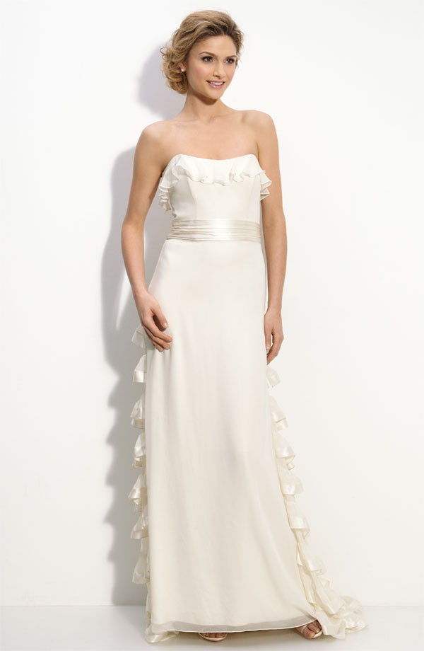 Today s Dress  Silk Ruffle Milly Gown at Nordstromwedding dress   I Do Love It. Milly Wedding Dresses. Home Design Ideas